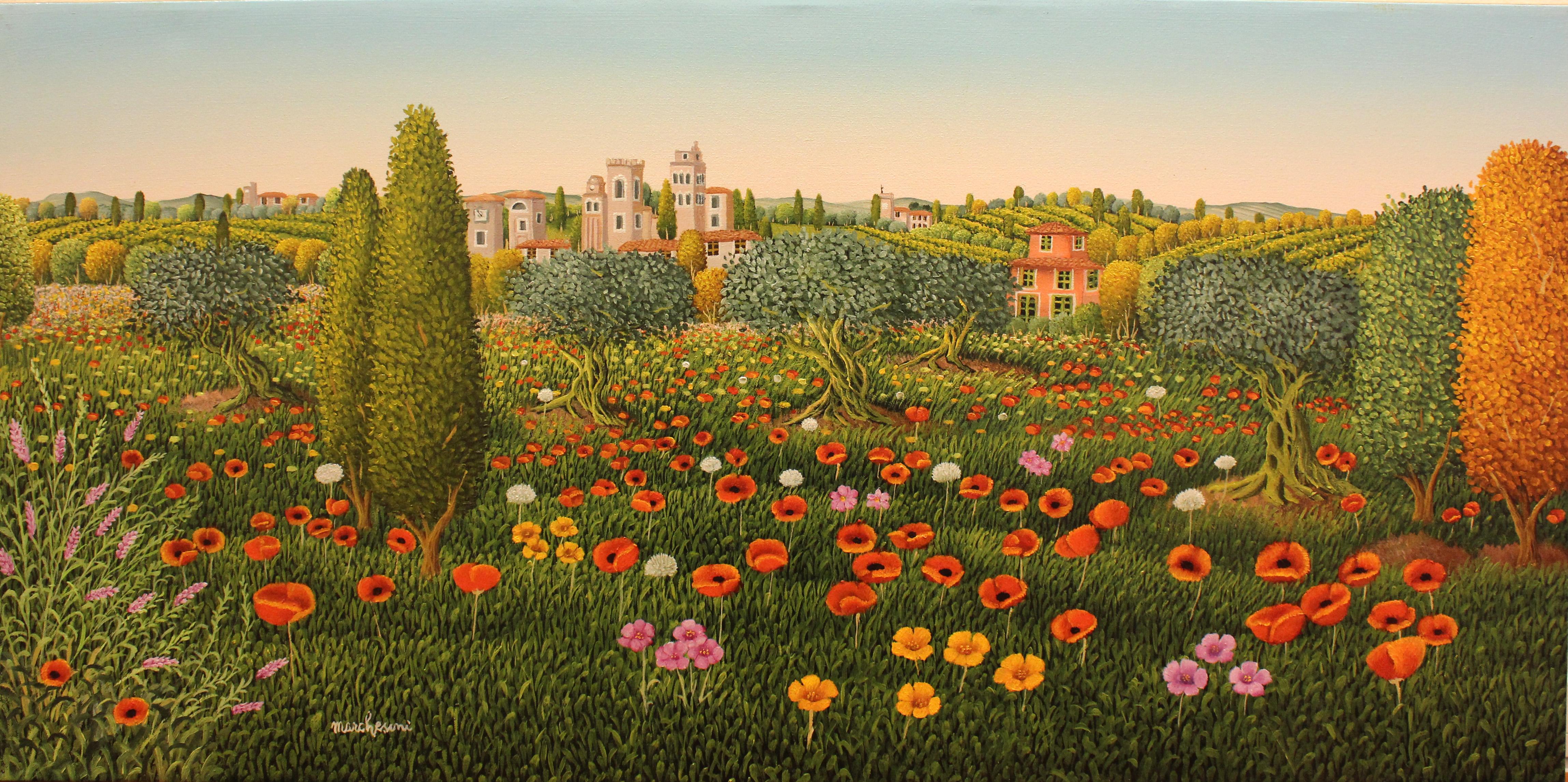 Marc Lesini art-義大利藝術家,色彩繽紛的畫作, 場景中的顏色,光線,空間,構圖的靈感創造出特定的氛圍。。。 - ☆平平.淡淡.也是真☆  - ☆☆milk 平平。淡淡。也是真 ☆☆